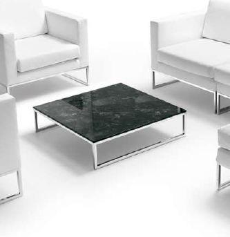 Tables basses table basse marbre et chrome mobilier de for Table basse marbre design