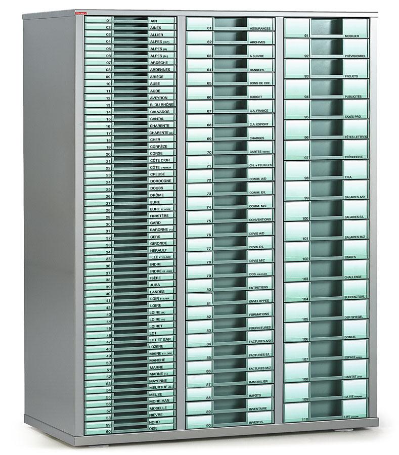Classement tiroirs bisley clen armoire 3 colonnes for Armoire a tiroirs de bureau