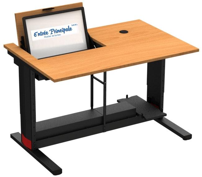 Mobilier de Formation  Table de formation avec écran encastré  Mobilier de  -> Table Basse Avec Ecran