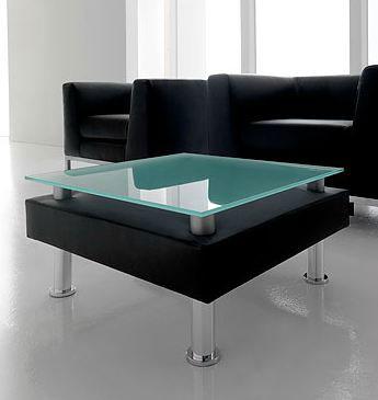 tables basses table basse cuir et verre satin. Black Bedroom Furniture Sets. Home Design Ideas