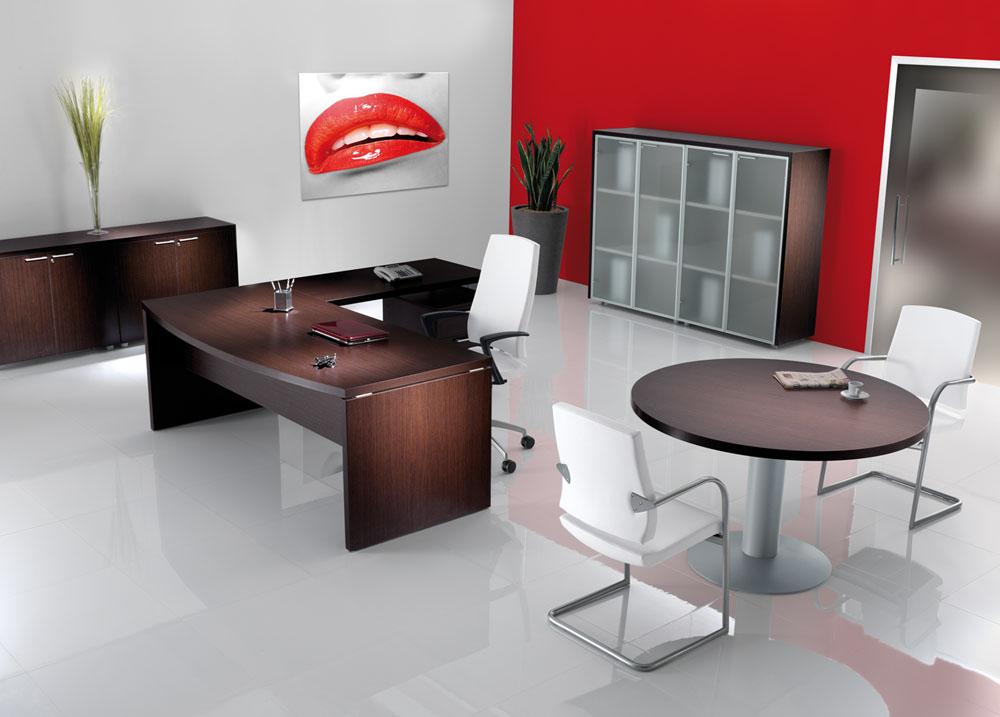 30 beau bureau de direction blanc avec retour hht5 for Bureau blanc avec retour