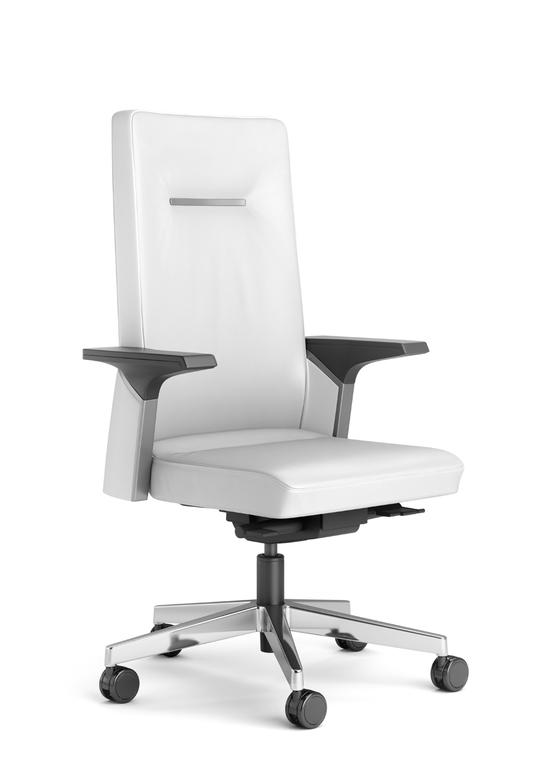 si ges direction fauteuil k01 cuir blanc mobilier de bureau entr e principale. Black Bedroom Furniture Sets. Home Design Ideas