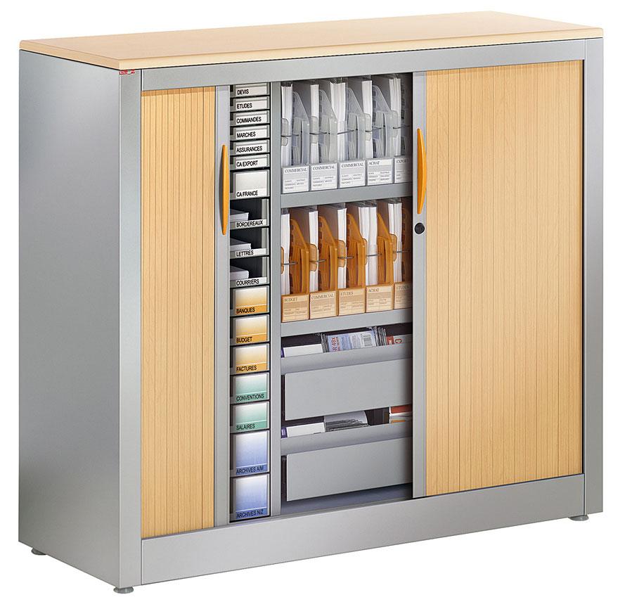 classement clen armoire basse avec box et tiroirs. Black Bedroom Furniture Sets. Home Design Ideas