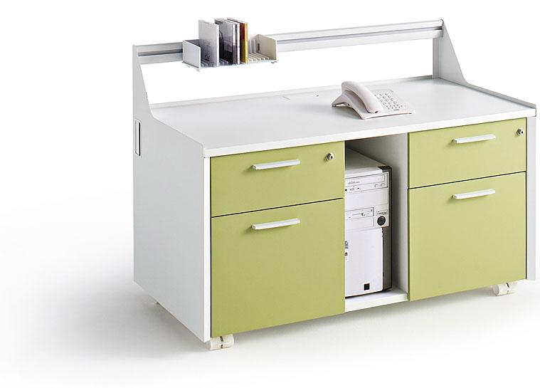 Caissons desserte mobile 4 tiroirs mobilier de bureau for Meuble unite centrale