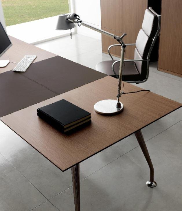 Bureaux de direction bureau infinity cuir et bois for Meuble bureau 974