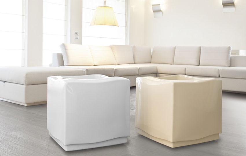 Chambre Fille Rose Et Blanc : Carre DECO et caches pots blanc et creme diam 500 haut