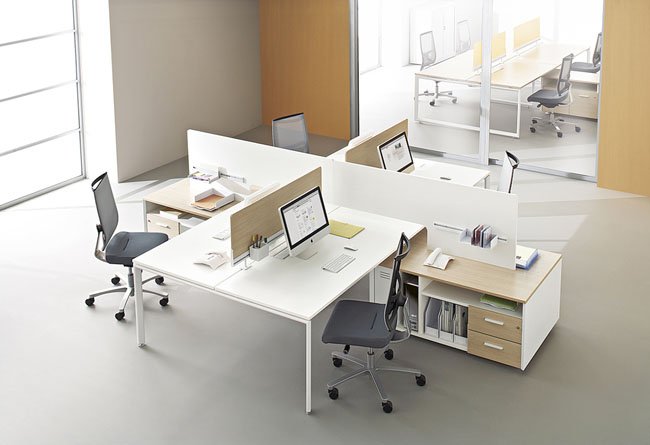 Call centers et open space bench atao 4 postes for Mobilier du bureau