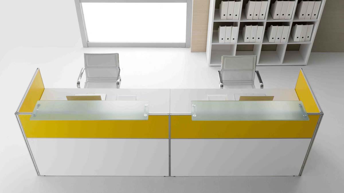 banques d 39 accueil comptoir d 39 accueil avec pmr et cloison mobilier de bureau entr e principale. Black Bedroom Furniture Sets. Home Design Ideas