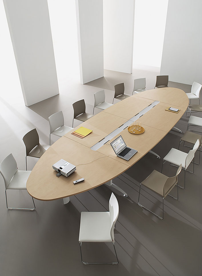 Tables de conf rence table de r union ovale icone - Table a rallonge pour 16 personnes ...