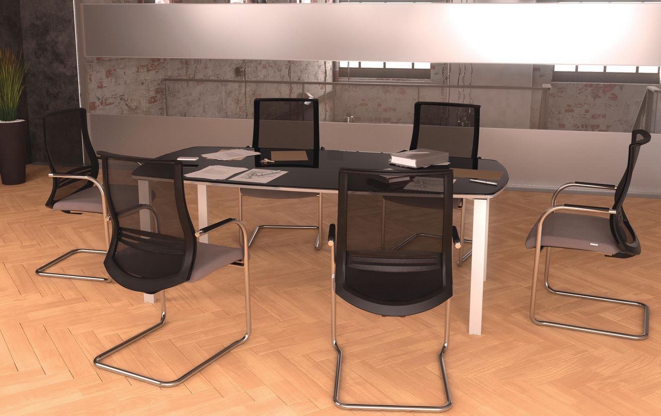 Tables de r union table de r union dynamic plus 8 for Mobilier bureau 4 personnes