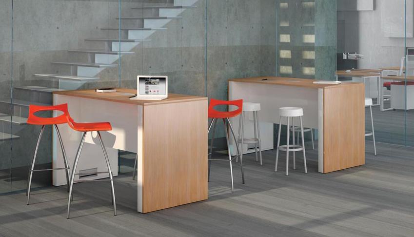 Mobilier et si ges hauts table haute technique avec for Mobilier table haute