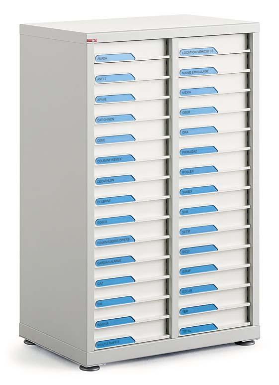 Classement tiroirs bisley clen comptoir 2 for Meuble bureau 15 tiroirs