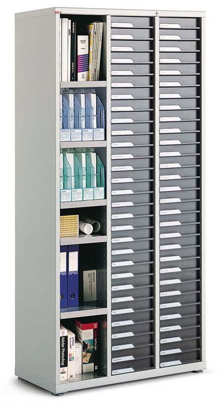 classement tiroirs bisley clen armoire 2 colonnes de 30 tiroirs et 1 colonne ouverte. Black Bedroom Furniture Sets. Home Design Ideas