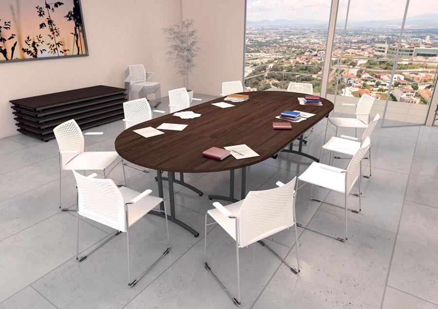 Tables modulables tables pliantes de r union confort 8 for Mobilier bureau 4 personnes