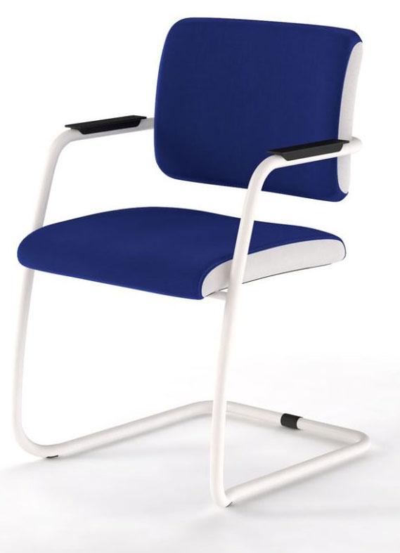 si ges de r union fauteuil visit bicolore luge blanc mobilier de bureau entr e principale. Black Bedroom Furniture Sets. Home Design Ideas
