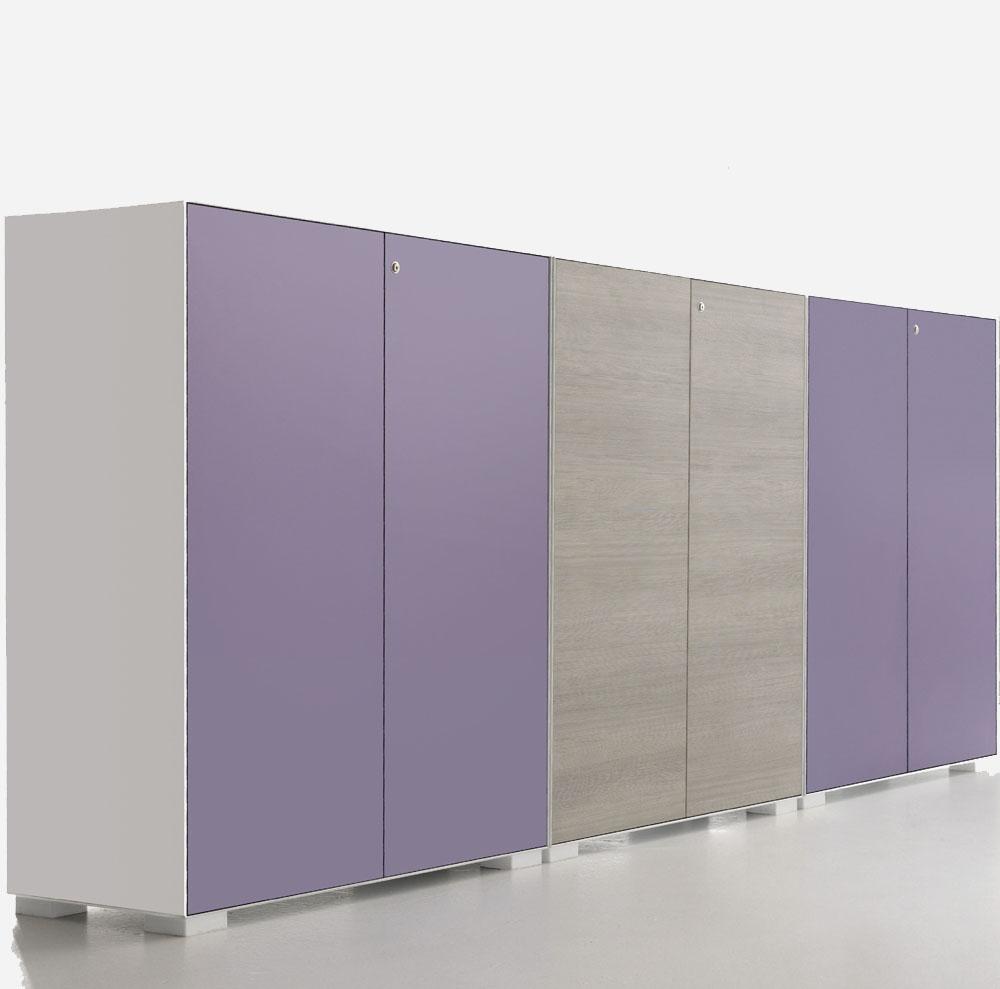 armoires et vestiaires ensemble de rangement smarty 164 bi mati re mobilier de bureau. Black Bedroom Furniture Sets. Home Design Ideas