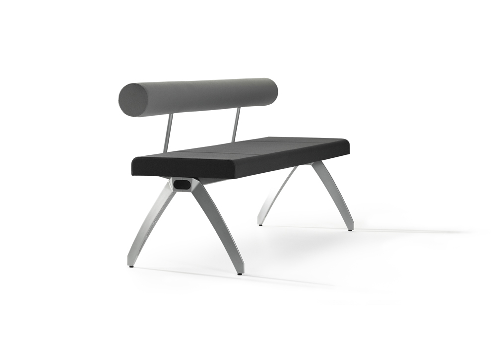 si ges sur poutre et d 39 accueil banc avec dossier 3 places calma mobilier de bureau entr e. Black Bedroom Furniture Sets. Home Design Ideas