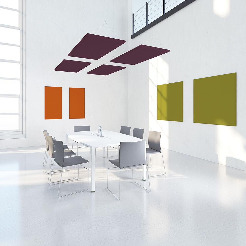 Cloisons et acoustique panneaux suspendus acoustiques for Mobilier bureau 56