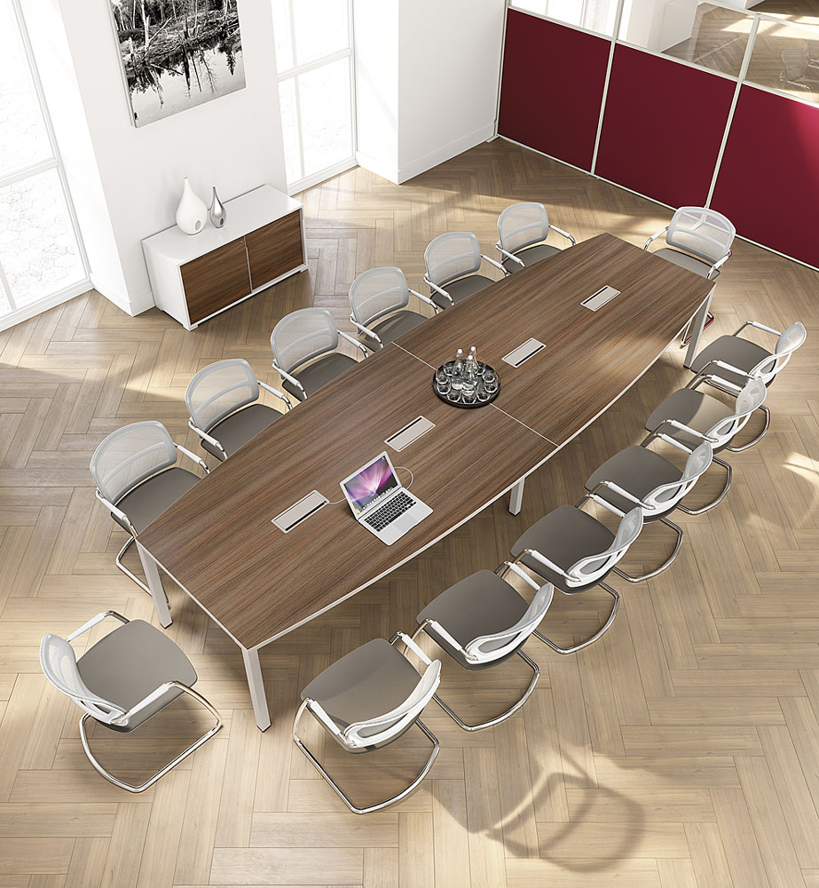 Tables de conf rence table iq 14 personnes mobilier de - Table a rallonge pour 16 personnes ...