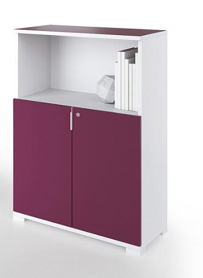 Armoires desserte alliance avec niche mobilier de for Mobilier bureau 56