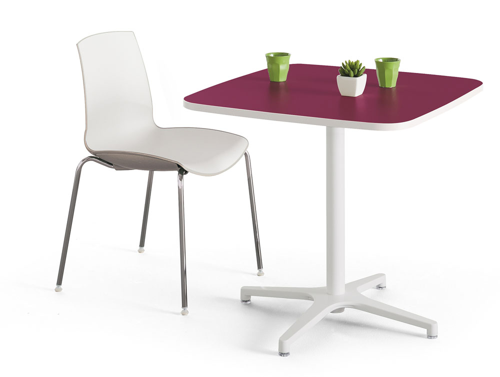 Mobilier de collectivit s table alt is carr e bomb e for Mobilier bureau 56
