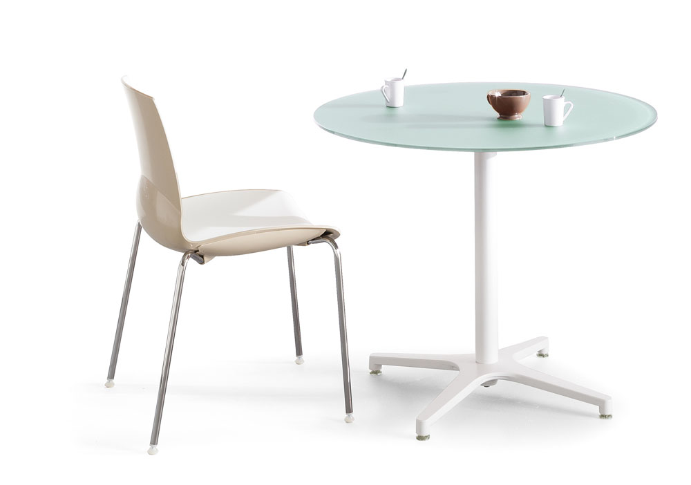 Mobilier de collectivit s table ronde verre alt is for Mobilier bureau 56