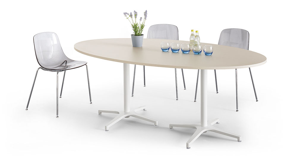 Mobilier de collectivit s table elliptique alt is for Mobilier bureau 56