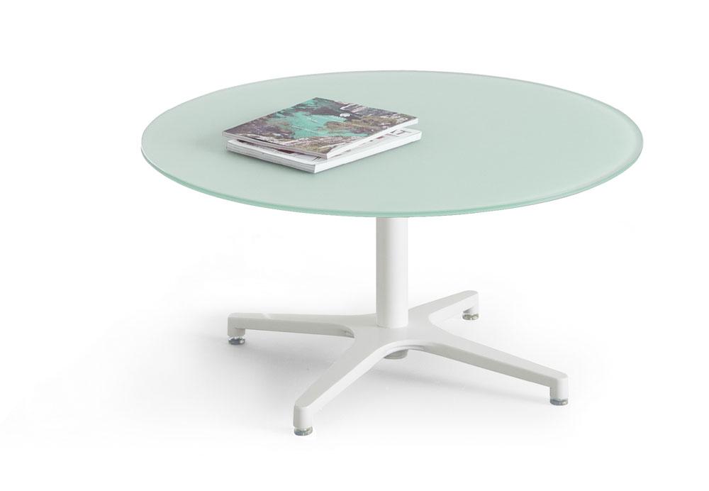 Table basse verre vague for Mobilier bureau 49