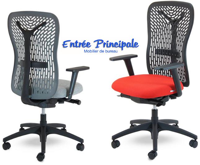 Si ges de bureau fauteuil flexa noir avec soutien for Mobilier bureau 54