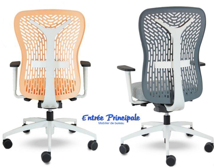 Si ges de bureau fauteuil flexa blanc avec soutien - Fauteuil bureau sans accoudoir ...