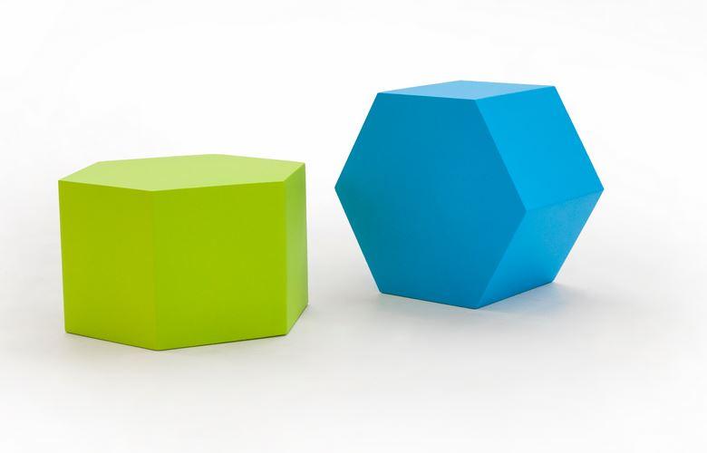poufs pouf hexagonal honey mobilier de bureau entr e principale. Black Bedroom Furniture Sets. Home Design Ideas