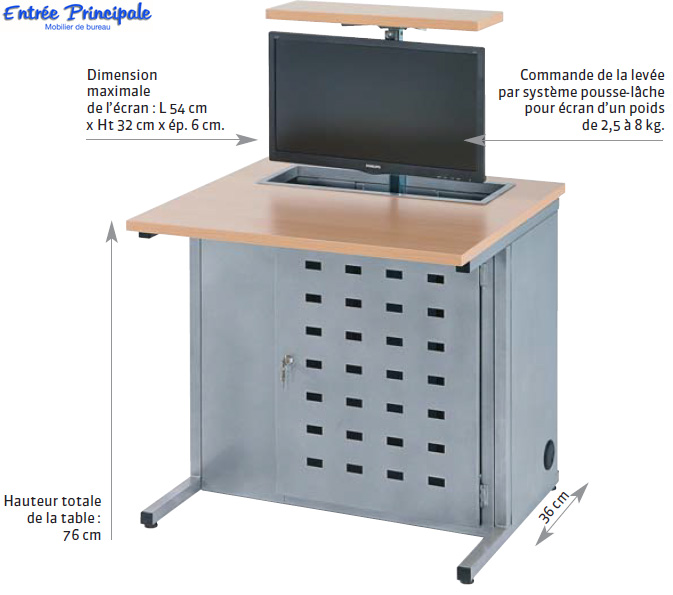Mobilier de formation table informatique avec ecran for Mobilier bureau 54