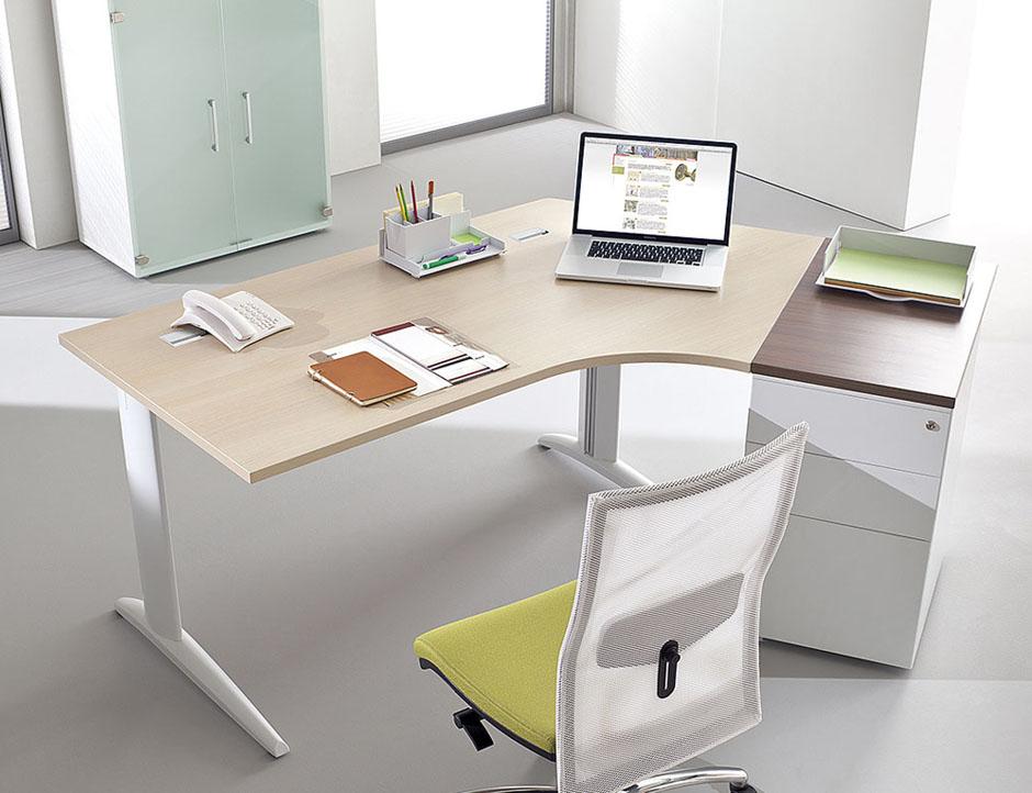 Bureaux fixes et r glables bureau compact 120 first for Mobilier bureau 94