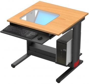Table avec écran encastré et support UC