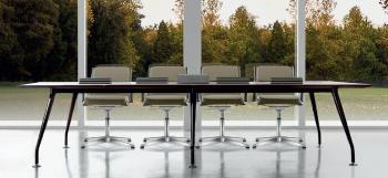 Table de réunion Infinity plateau bois