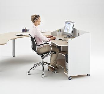Comptoir d'accueil assis Satellix