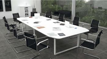Tables Activ Plus blanc brillant imitation verre