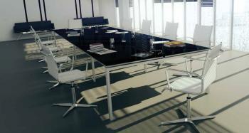 Tables Dynamic Plus Noir imitation verre