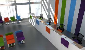 Banque d'Accueil Image droite multicolore