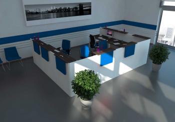 Banque Image 1 Bleue