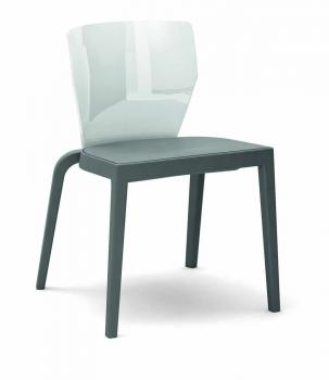 Chaise BI SERIES PP structure grise