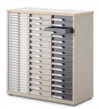 Comptoir 3 colonnes 60 tiroirs