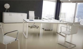 Bureau Diamant Blanc