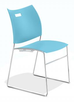 Chaise polyvalente Carver piétement fil chromé