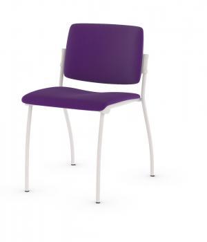 Chaise Easy Tapissée 4 pieds blancs