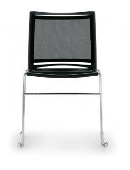 Chaise AERO Résille fil chromé