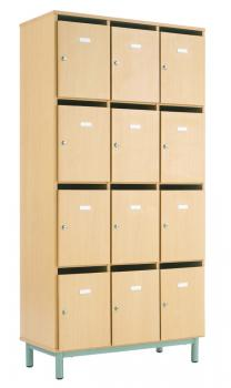 Armoires armoire colonne 3 cases avec portes cl for Mobilier bureau 49