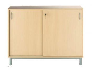 armoires et vestiaires armoire basse 2 portes coulissantes l120 mobilier de bureau entr e. Black Bedroom Furniture Sets. Home Design Ideas