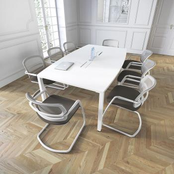 Tables de r union table ovale iq 10 personnes erable for Mobilier bureau 4 personnes