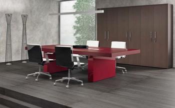 Table de Réunion Executive BK8 Cuir et Laque